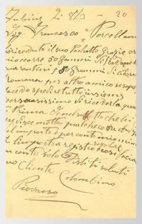 Un ordine del 1920 attraverso una cartolina delle Regie Poste.